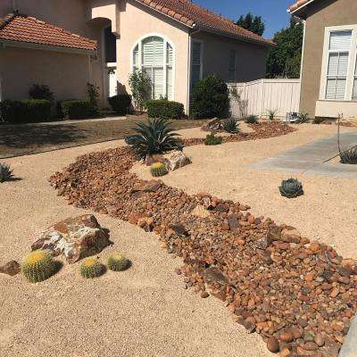 0.5 cu. ft. Sandtone Palm Springs Gold Landscape Decomposed Granite 20 lbs. Fines Ground Cover, Gardening and Pathways