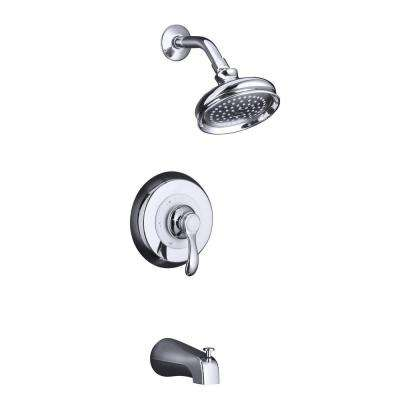 Fairfax 1-Handle Tub and Shower Faucet Trim Only in Polished Chrome