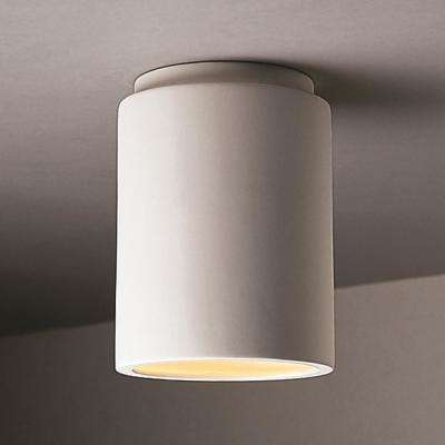 Radiance 6.5 in. 1-Light Cylinder Bisque Flush Mount