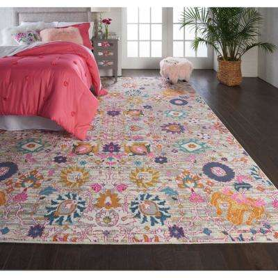 Passion Silver 8 ft. x 10 ft. Area Rug