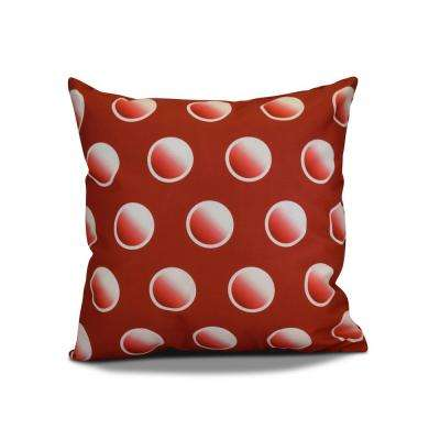 16 in. Dip Dye Dots Red Pillow
