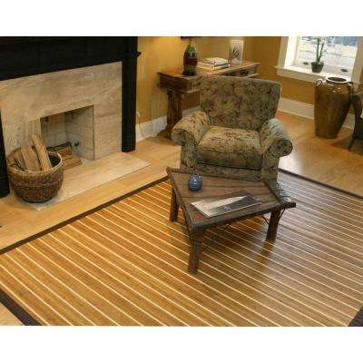 Premier Brown and Light Brown Striped 6 ft. x 9 ft. Area Rug