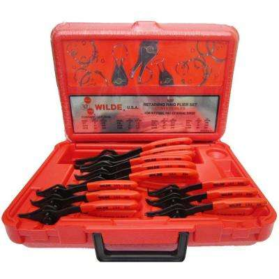 Retaining Ring Pliers Set with Molded Case (12-Piece)