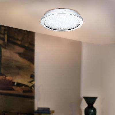 Arezzo 100-Watt Chrome Integrated LED Semi-Flush Mount