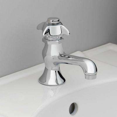 Single Hole 1-Handle Low-Arc Bathroom Faucet in Chrome