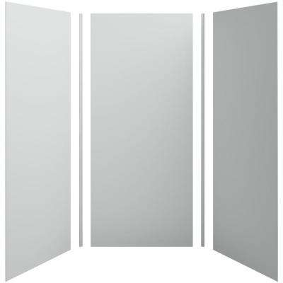 Choreograph 42in. X 42 in. x 96 in. 5-Piece Shower Wall Surround in Ice Grey for 96 in. Showers
