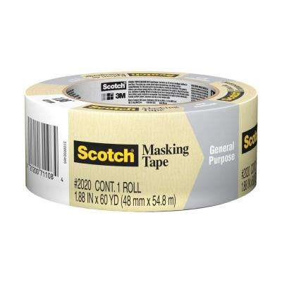Scotch 1.88 in. x 60 yds. General Purpose Masking Tape