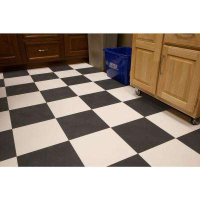 RaceDay Levant Slate Grey 12 in. x 12 in. Peel and Stick Polyvinyl Tile (20 sq. ft. / case)