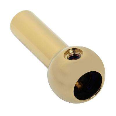 Hampton/Silhouette Handle Ball for Lever, Polished Brass