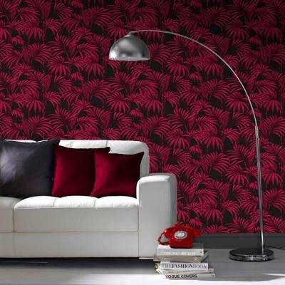 Black and Fuchsia Honolulu Removable Wallpaper