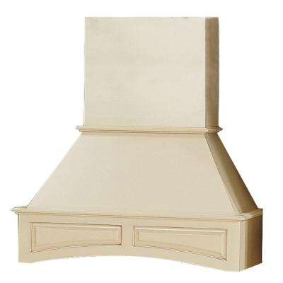 38x23x21 in. Holden Assembled Range Hood-Chimney Combo with Arched Valance in Bronze Glaze
