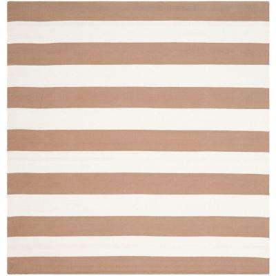 Montauk Sand/Ivory 6 ft. x 6 ft. Square Area Rug