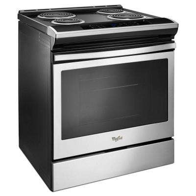 4.8 cu. ft. Single Oven Electric Range with Guided Front Control in Stainless Steel