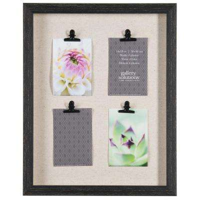 Clip Collage 4 in. x 6 in. Distressed Black Picture Frame