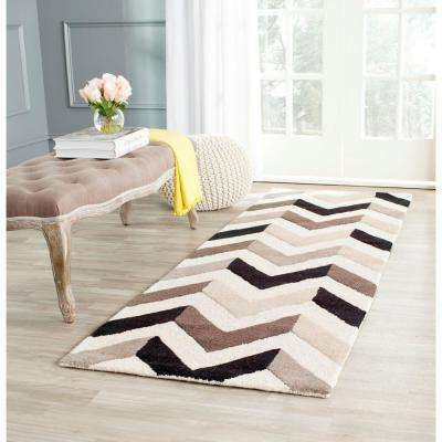 Cambridge Ivory/Black 3 ft. x 8 ft. Runner Rug