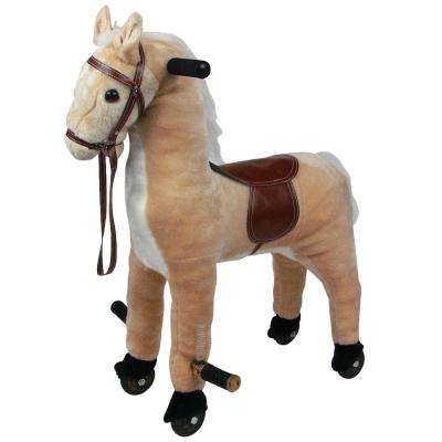 Plush Brown Walking Horse with Wheels