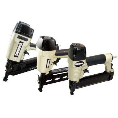 Pneumatic 3-Piece Brad Nailer, Straight Nailer and Framing Nailer Combo Kit