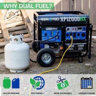 12,000-Watt/9,500-Watt-Push Button Start-Gas/Propane Powered-Portable Generator- CO Alert Sensor-Transfer Switch Ready