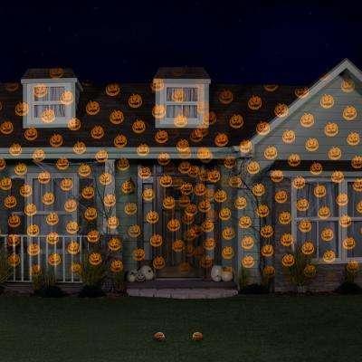 Halloween Lightshow Projection-Shades of Halloween-JOL Orange (2-Pack)