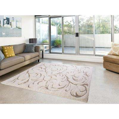 Canyon Ivory Vines 7 ft. 10 in. x 10 ft. 2 in. Indoor Area Rug