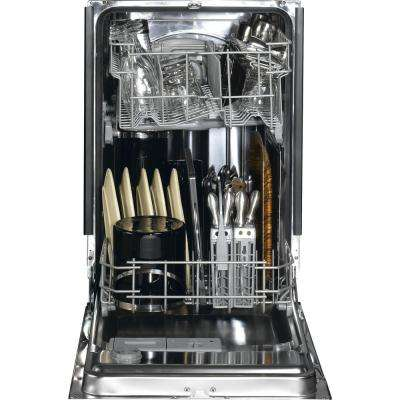 Profile 18 in. Top Control Dishwasher in Black with Stainless Steel Tub