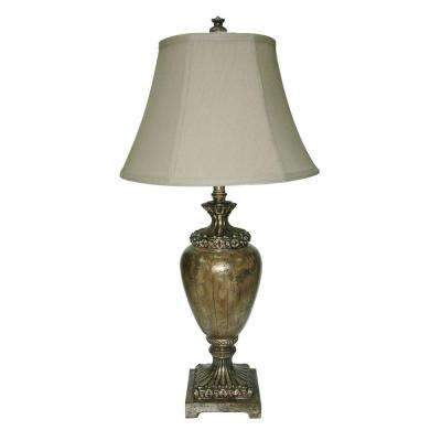 33 in. Opulant Silver Traditional Urn Table Lamp