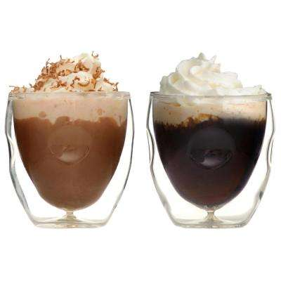 Moderna Artisan Series Double Wall 2 oz. Beverage & Espresso Shot Glasses - (Set of 2) Drinking Glasses