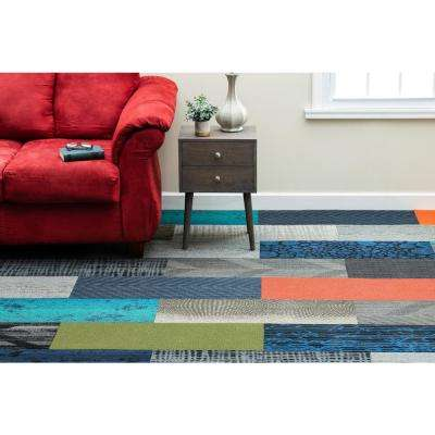 Assorted Pattern Commercial Peel and Stick 12 in. x 36 in. Carpet Tile Planks (10 Tiles/Case)