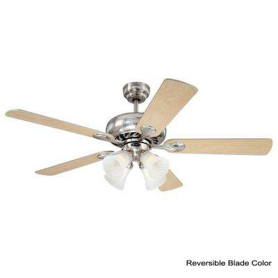 Swirl 52 in. Brushed Nickel Indoor Ceiling Fan