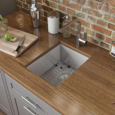 Undermount Stainless Steel 16 in. Bar Prep 16-Gauge Single Bowl Kitchen Sink