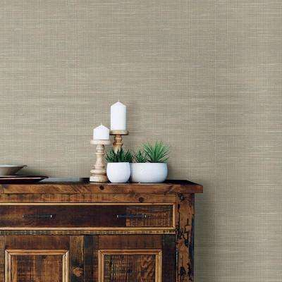 30.75 sq. ft. Wheat Grasscloth Peel and Stick Wallpaper
