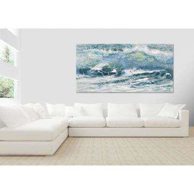 "36 in. x 72 in. ""Shoreline study 10116"" by Carole Malcolm Printed Framed Canvas Wall Art"