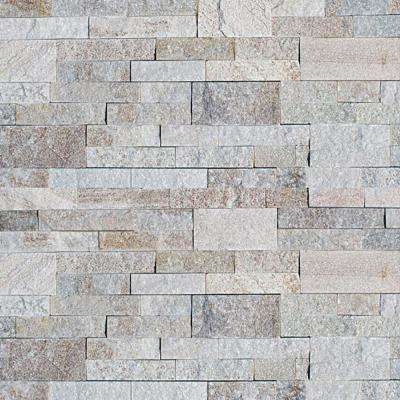 White Chestnut 6 in. x 24 in. Natural Stacked Stone Veneer Panel Siding Exterior/Interior Wall Tile (2-Boxes/11 sq. ft.)