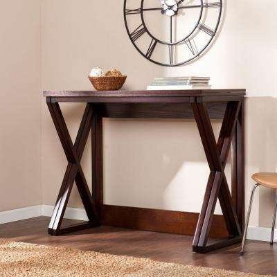 Lois Counter Height Universal Espresso Console Table