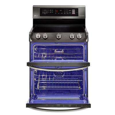 7.3 cu. ft. Double Oven Electric Range with ProBake Convection, Self Clean and Infrared Heating in Black Stainless Steel