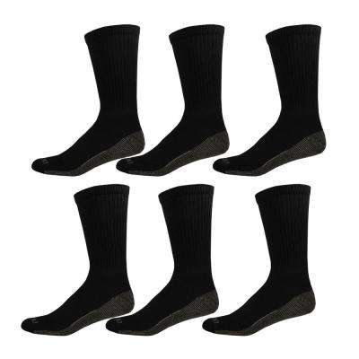 Dickies Men's Dri Tech Black Crew Socks