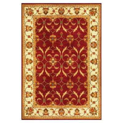 State of Honor Red/Ivory 7 ft. 10 in. x 9 ft. 10 in. Area Rug