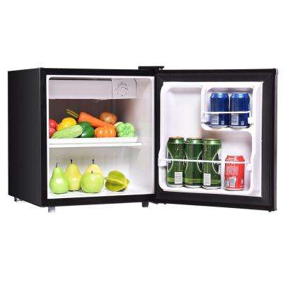 Mini Fridge Small Freezer Cooler Fridge Compact 1.7 cu ft. Unit Black