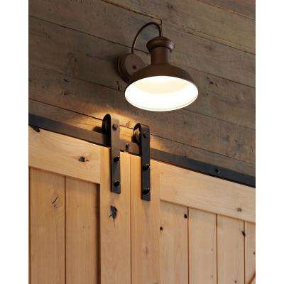 Fredricksburg 1-Light Weathered Copper Outdoor 15.875 in. Wall Lantern Sconce