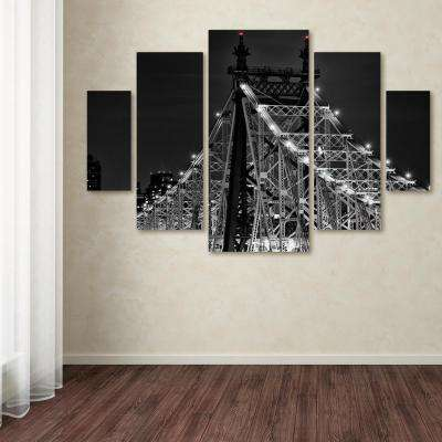 "40 in. x 58 in. ""Queensboro Bridge"" by David Ayash Printed Canvas Wall Art"