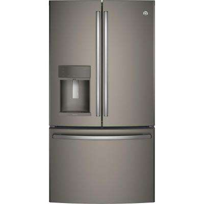 27.7 cu. ft. French Door Refrigerator in Slate with Hands Free Autofill