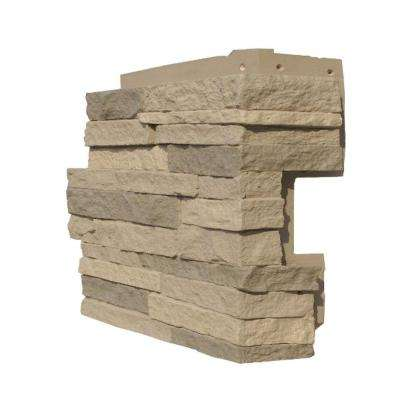 Stacked Stone Kentucky Gray 4.25 in. x 13.75 in. Faux Stone Siding Corner (4-Pack)