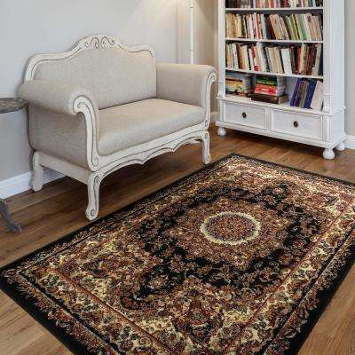 Grace Black/Cream 2 ft. x 7 ft. Plush Indoor Runner Rug