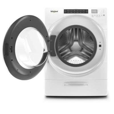 4.5 cu. ft. High Efficiency White Front Load Washing Machine with Steam and Load & Go Dispenser