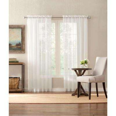 Sheer Cream Sheer Voile Rod Pocket Curtain