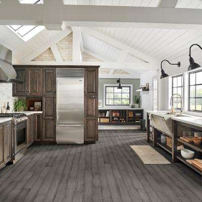 Hydropel Hickory Cool Gray 7/16 in. T x 5 in. W x Varying Length Waterproof Engineered Hardwood Flooring (22.6 sq. ft.)