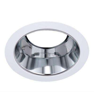 5 in. Line Voltage Recessed R30/PAR30 Brushed Nickel Reflector with White Trim Ring