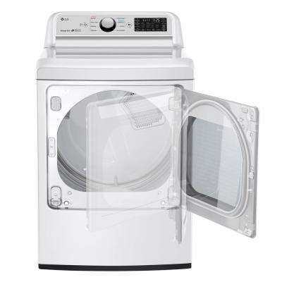 7.3 cu.ft. White Electric Vented Dryer with Rear Controls and EasyLoad Door