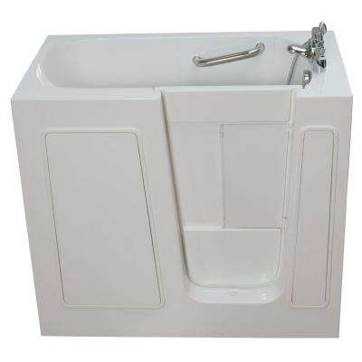 Small 3.75 ft. x 26 in. Walk-In Bathtub in White with Right Drain/Door
