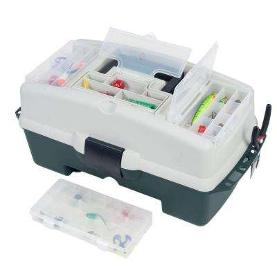 2-Tray Tackle Box with 3 Removable Organizers